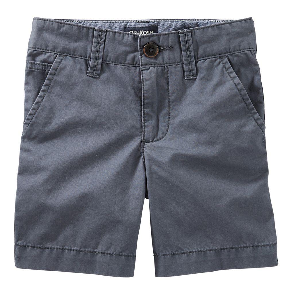 Boys 4-8 OshKosh B'gosh® Grey Flat-Front Shorts