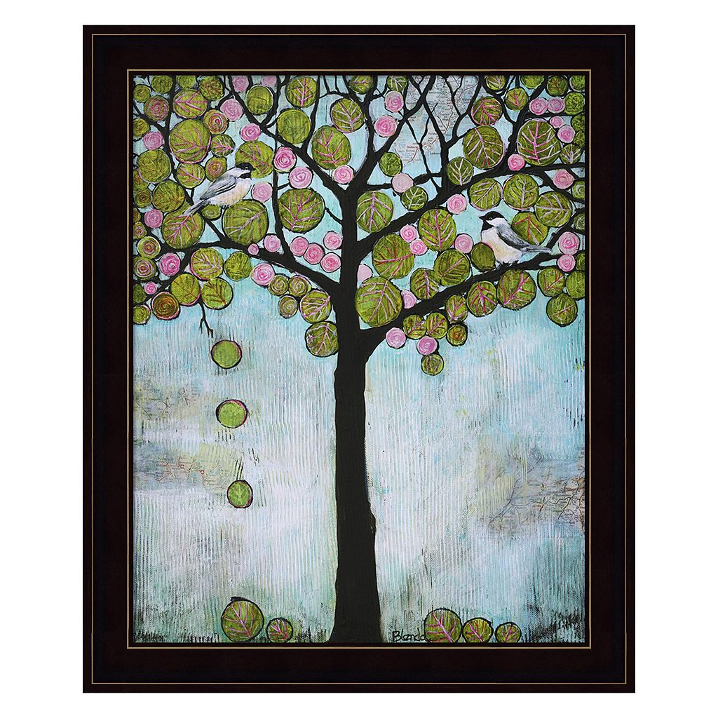 Chickadee Tree 2 Framed Wall Art