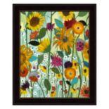 Sunflower House Framed Wall Art