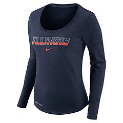 Women's Nike Illinois Fighting Illini Slubbed Dri-FIT Tee