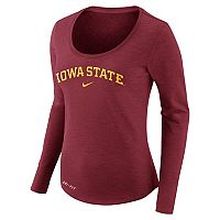 Women's Nike Iowa State Cyclones Slubbed Dri-FIT Tee