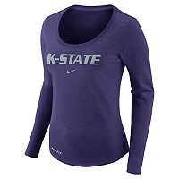 Women's Nike Kansas State Wildcats Slubbed Dri-FIT Tee