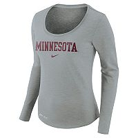 Women's Nike Minnesota Golden Gophers Slubbed Dri-FIT Tee