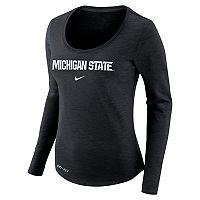 Women's Nike Michigan State Spartans Slubbed Dri-FIT Tee