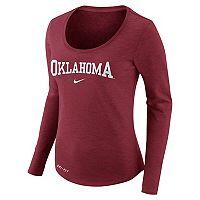 Women's Nike Oklahoma Sooners Slubbed Dri-FIT Tee