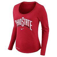 Women's Nike Ohio State Buckeyes Slubbed Dri-FIT Tee