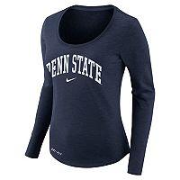 Women's Nike Penn State Nittany Lions Slubbed Dri-FIT Tee