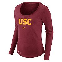 Women's Nike USC Trojans Slubbed Dri-FIT Tee