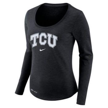 Women's Nike TCU Horned Frogs Slubbed Dri-FIT Tee