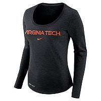 Women's Nike Virginia Tech Hokies Slubbed Dri-FIT Tee