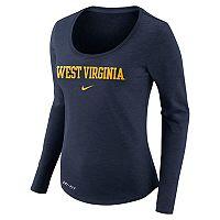 Women's Nike West Virginia Mountaineers Slubbed Dri-FIT Tee