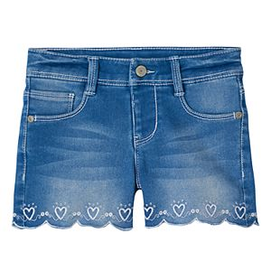 Girls 4-8 SONOMA Goods for Life™ Scalloped Embroidered Heart Shorts