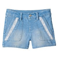 Girls 4-8 SONOMA Goods for Life™ Lace Pork Chop Pocket Denim Shorts
