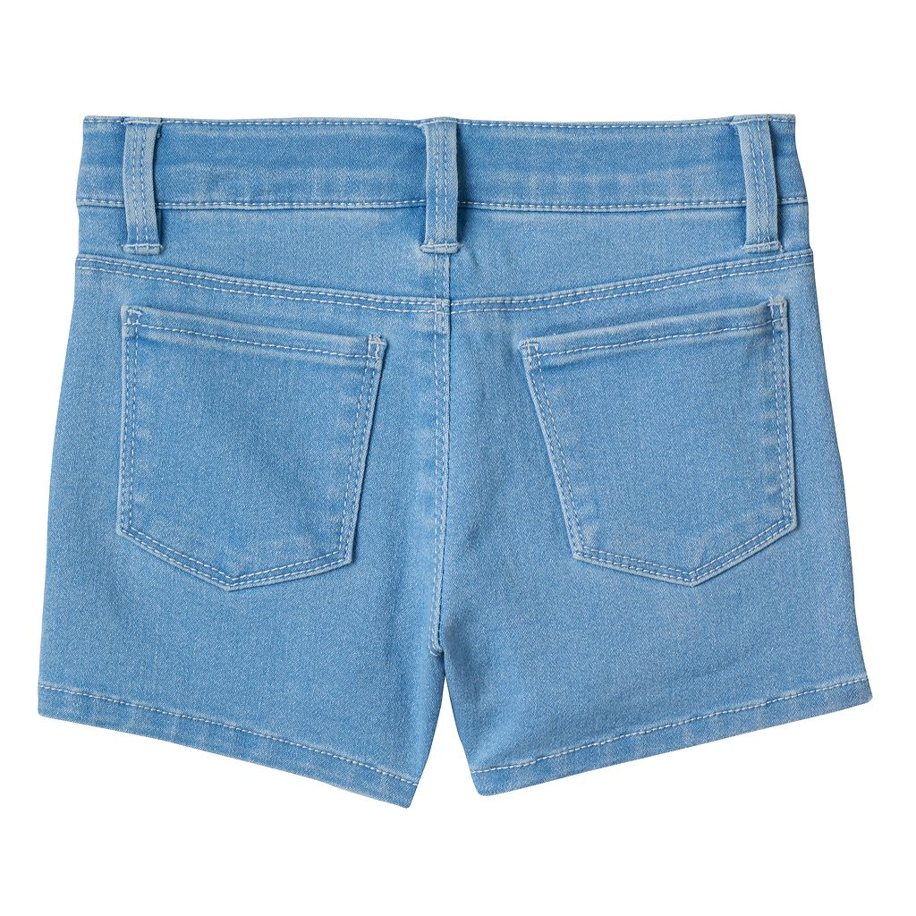 Girls 4-8 SONOMA Goods for Life™ Lace Pork Chop Pocket Denim Shorts
