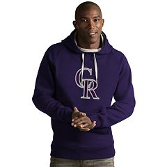Men's Antigua Colorado Rockies Victory Logo Hoodie