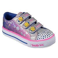 Skechers Twinkle Toes Shuffles Expressionista Emoji Girls' Light Up Shoes
