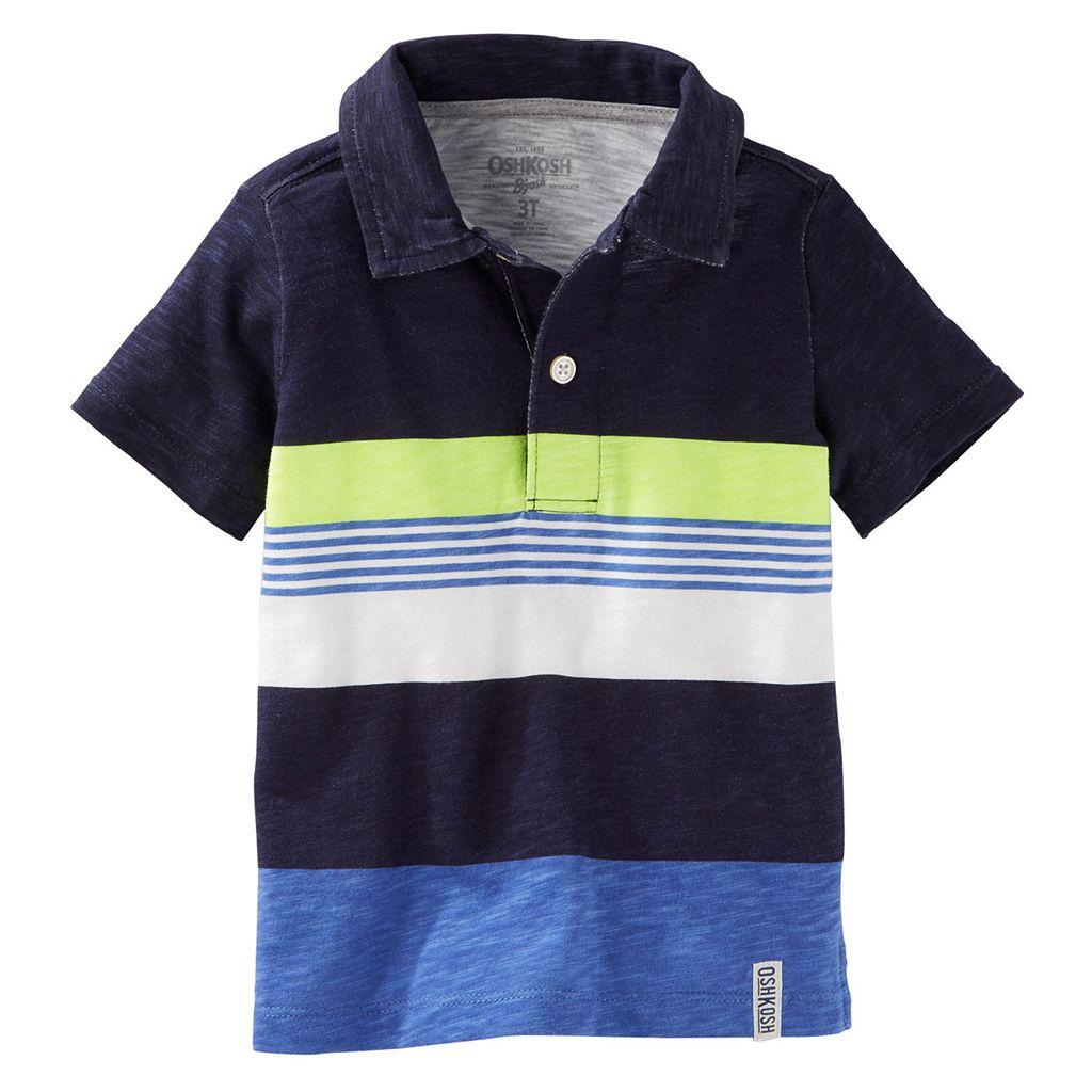 Boys 4-10 OshKosh B'gosh® Engineered Stripe Jersey Polo Shirt
