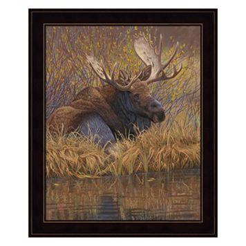 Nested In Teton Moose Framed Wall Art