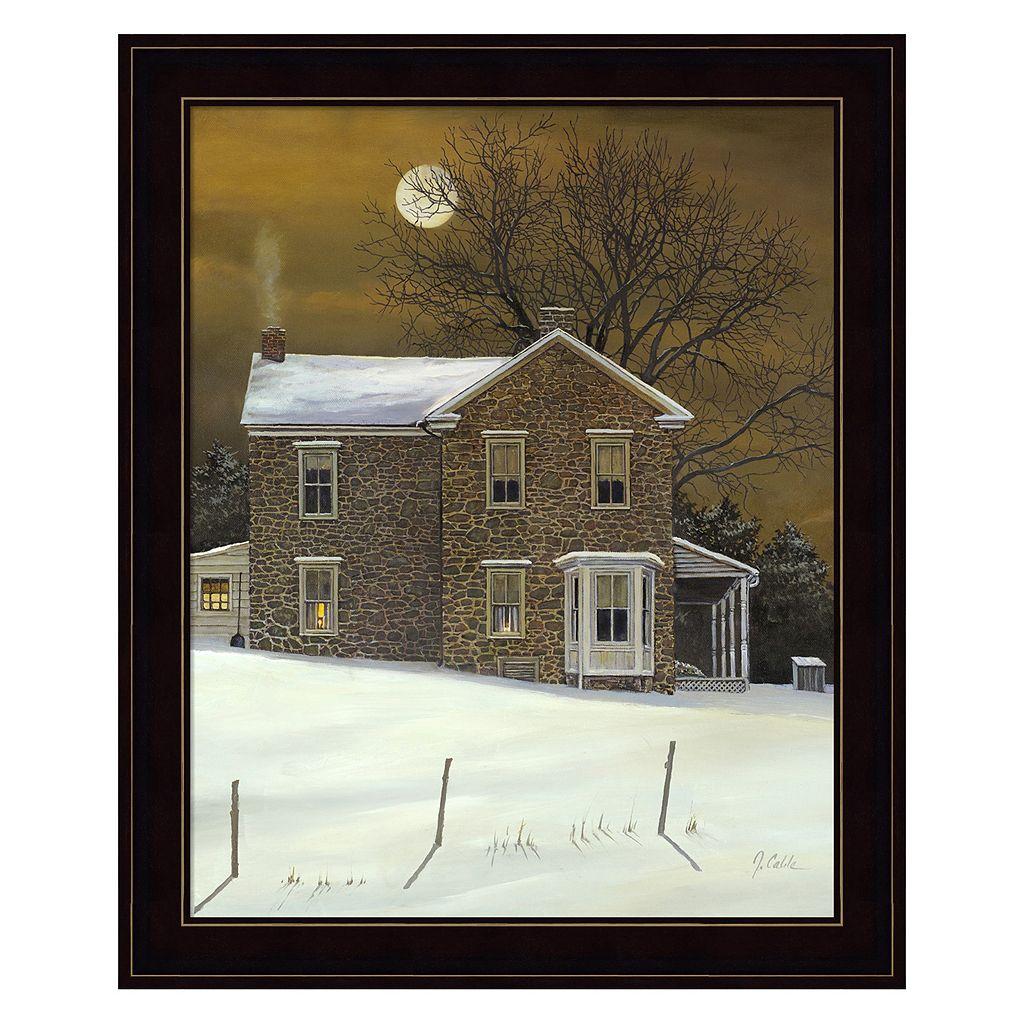 Amber Moon Framed Wall Art
