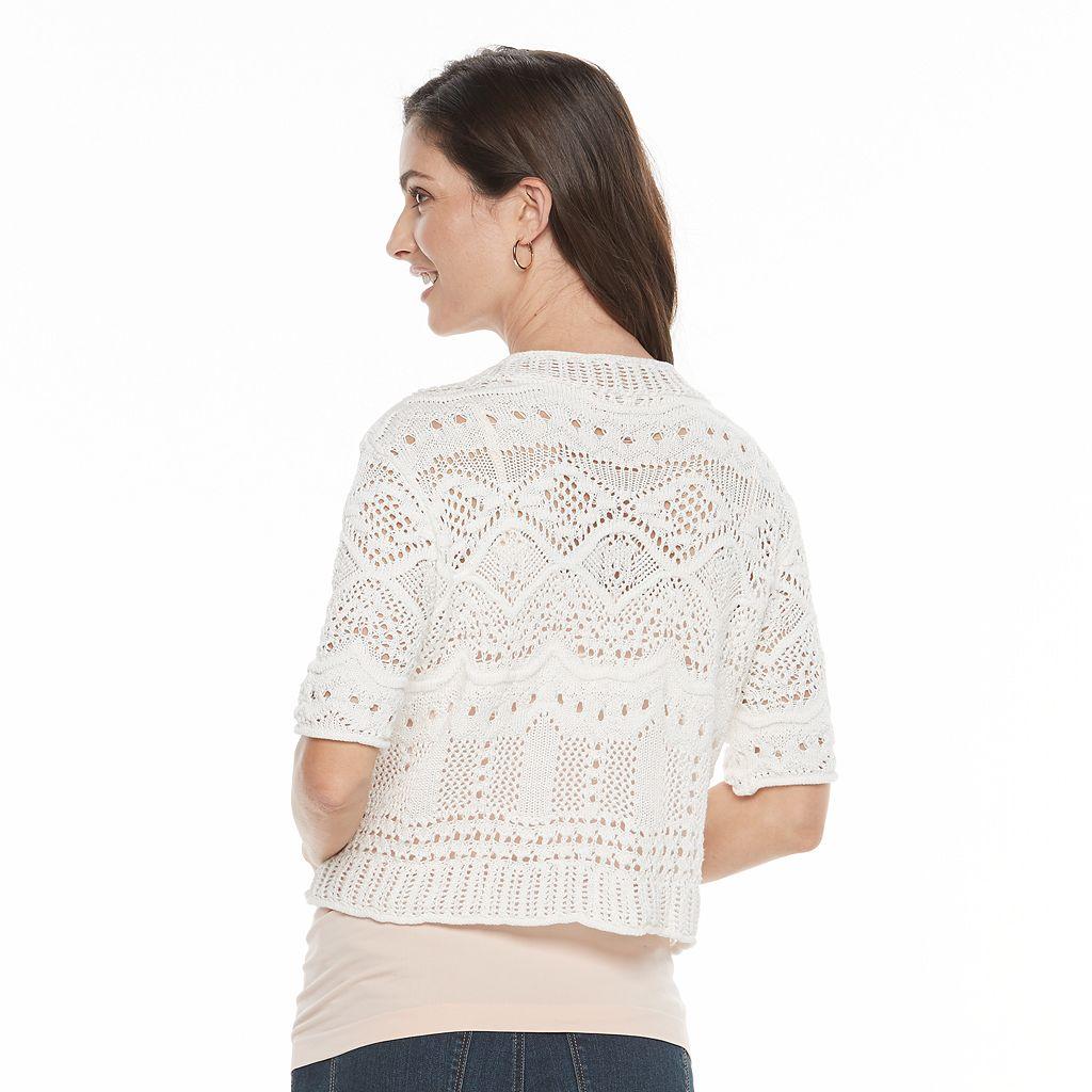 Women's World Unity Crochet Bolero Cardigan