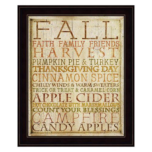 """""""Fall"""" Framed Wall Art"""