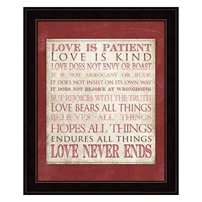 """Love Is Patient"" Framed Wall Art"