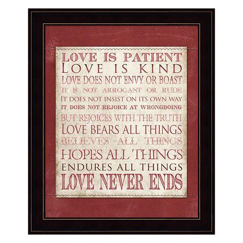 """Love Is Patient"" Framed Wall Art"