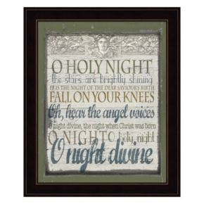 """O Holy Night"" Framed Christmas Wall Art"