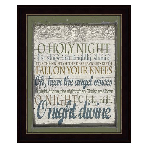 """O Holy Night"" Framed Christmas Wall Art"