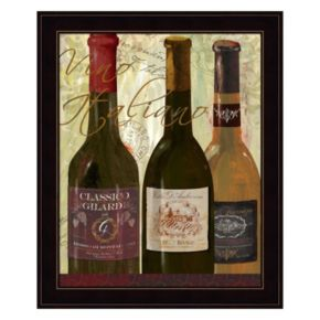 """Vino Italiano"" Framed Wall Art"