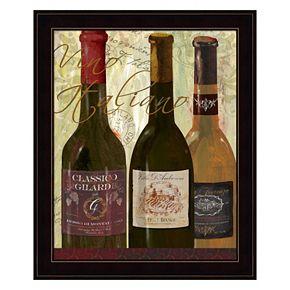 """""""Vino Italiano"""" Framed Wall Art"""