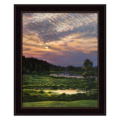 Marsh Sunset Framed Wall Art