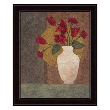 Red Tulips Framed Wall Art