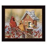 Winter Birds Buffet Framed Wall Art