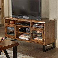 HomeVance Ackerly Mixed Media Rustic TV Stand