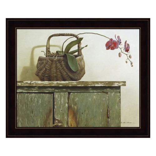 Orchid Basket Framed Wall Art