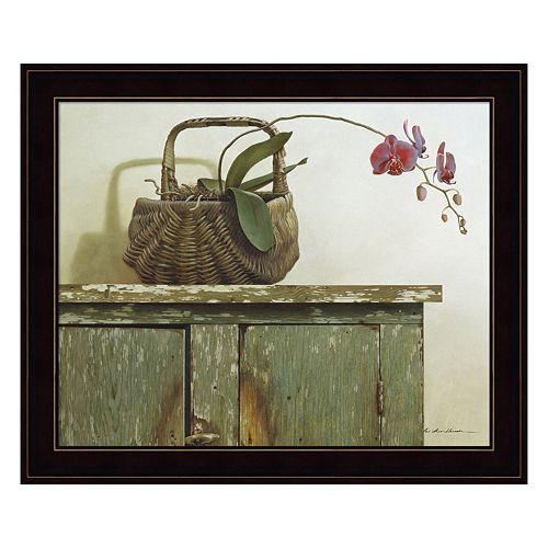 Orchid Basket Framed Wall Art