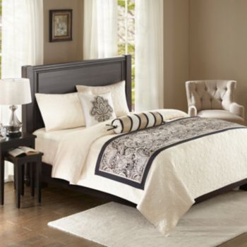 Madison Park 3-piece Wellington Bed Scarf Set