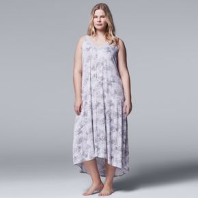 Plus Size Simply Vera Vera Wang Pajamas: Late Bloomers Maxi Nightgown