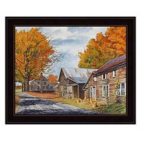 October Country Drive Framed Wall Art