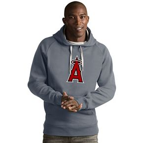 Men's Antigua Los Angeles Angels of Anaheim Victory Logo Hoodie