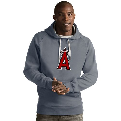 Men's Antigua Los Angeles Angels of Anaheim Victory Logo Hoodie