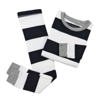 Toddler Burt's Bees Baby Organic Rugby Stripe Pajama Set