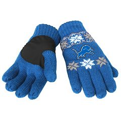 Adult Forever Collectibles Detroit Lions Lodge Gloves