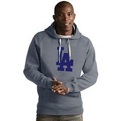 Men's Antigua Los Angeles Dodgers Victory Logo Hoodie