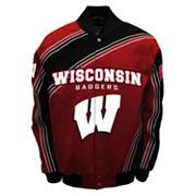 Men's Franchise Club Wisconsin Badgers Warrior Twill Jacket