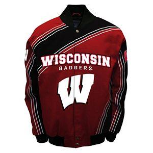 Men's Franchise Club Wisconsin Badgers Warrior Twill Jacket