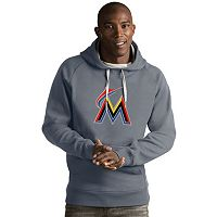 Men's Antigua Miami Marlins Victory Logo Hoodie