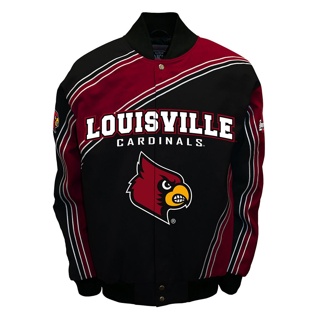 Men's Franchise Club Louisville Cardinals Warrior Twill Jacket