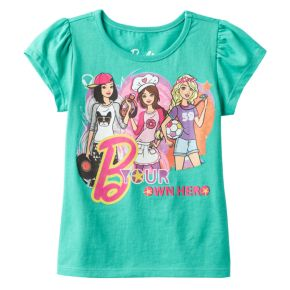 "Girls 4-6x Barbie ""B Your Own Hero"" Graphic Tee"